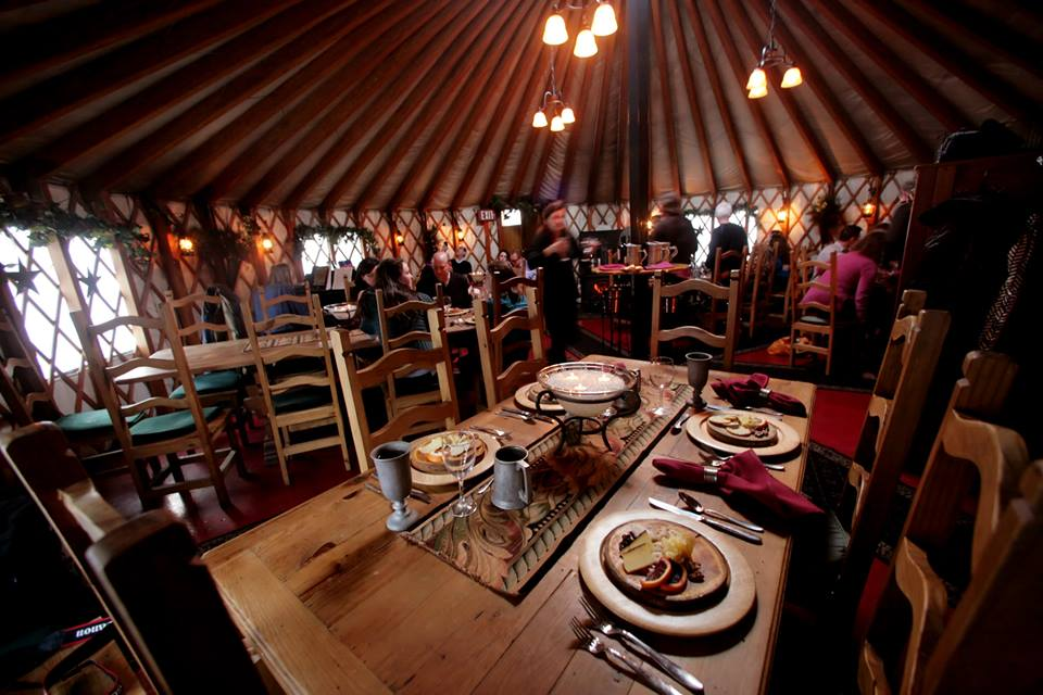 Interior of Viking Yurt